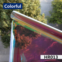 Halloween Xmas Decorations Window Film Decor,Rainbow Colorful window film School Home Office Accessories Party Supplies Gifts
