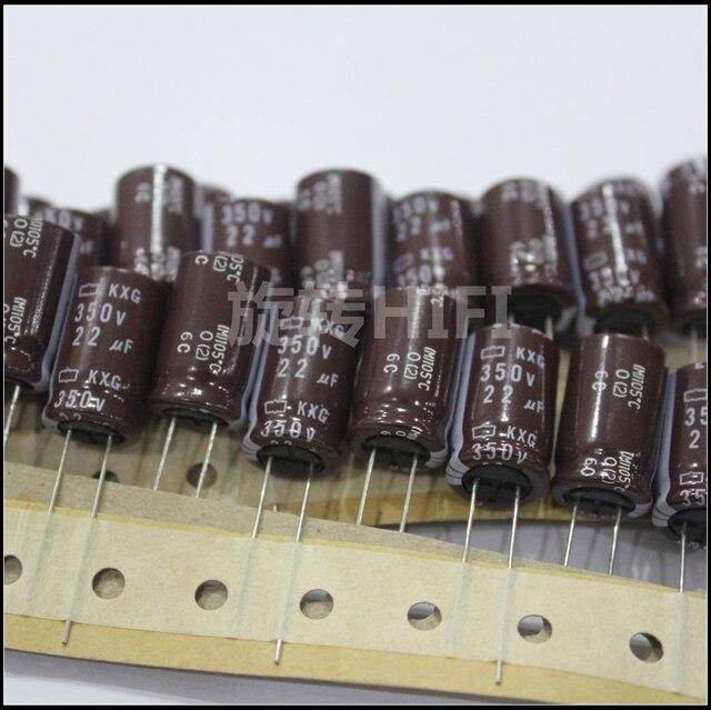 10 Pcs Nieuwe Nippon Kmg 350V22UF 12.5X20 Mm Ncc Elektrolytische Condensator 22 Uf 350V CHEMI CON 350V 22 Uf