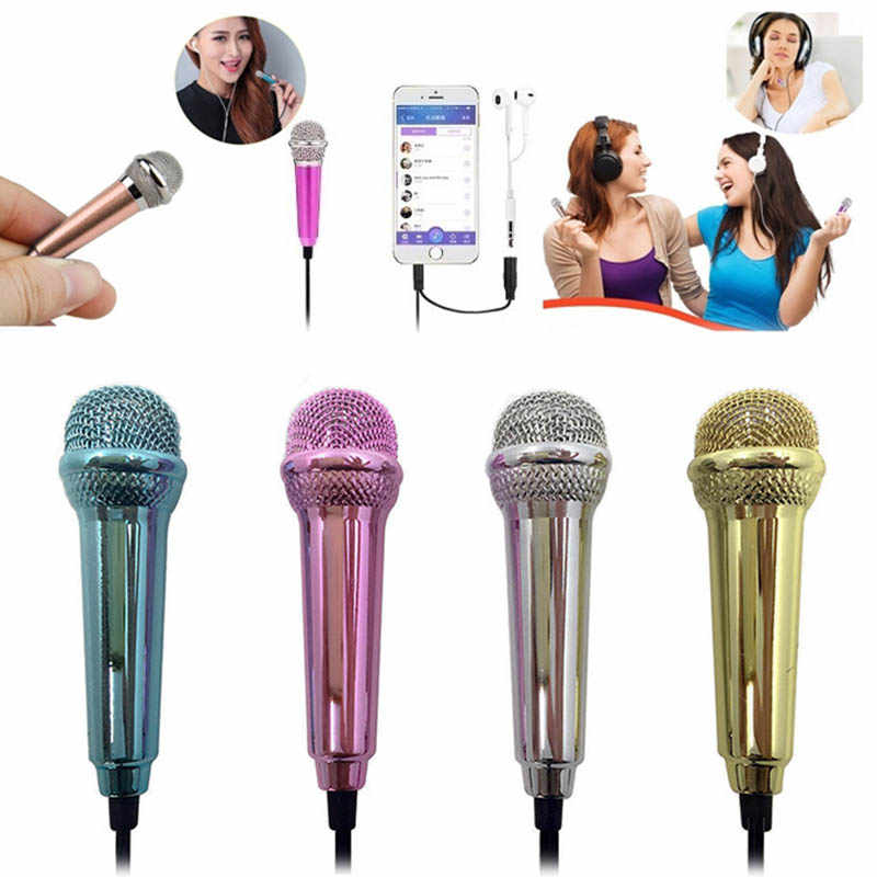 Mini Karaoke Condenser Wired 3.5mm Stereo Microphone Mic For Android Mobile Phone SP99