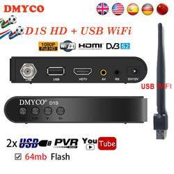 Корабль из Испании D1S цифровой спутниковый ресивер DVB-S2 1080 P HD FTA LNB рецепторов Спутниковое декодер совместим с YouTube YouPorn PowerVu
