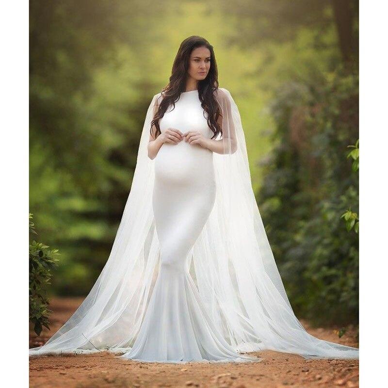 Chiffon Shawl Dress Maternity Photography Props V-neck Pregnancy Dress Photography Maternity Dresses For Photo Shoot Maxi Clothe