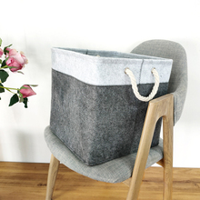 Square Felt Cloth Dirty Laundry Basket with Handle Home Clothing Loundry Storage Baskets Sundries Kids Toy Storage Organizer Box