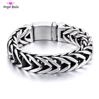 Pulseira Masculina Stainless Steel 17MM Wide Buddha Bracelet Men Jewelry V Shape Men's Bracelets Dropship Gift For Him With Logo