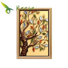 Full Diamond Embroidery Four Season Rich Tree Diy Painting For Wealth 3 Size