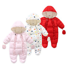 Autumn and winter baby girl clothes color polka dot hooded baby