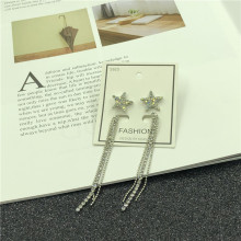 The New Fashion Comes In Metal Classic Female Pendant Earrings Asymmetrical Star Personality Jewelry