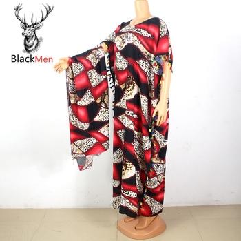 2020 New Dashiki Leopard Print 100% Cotton Tassel Short Sleeve O-Neck Maxi Dress Plus size african dresses for women недорого