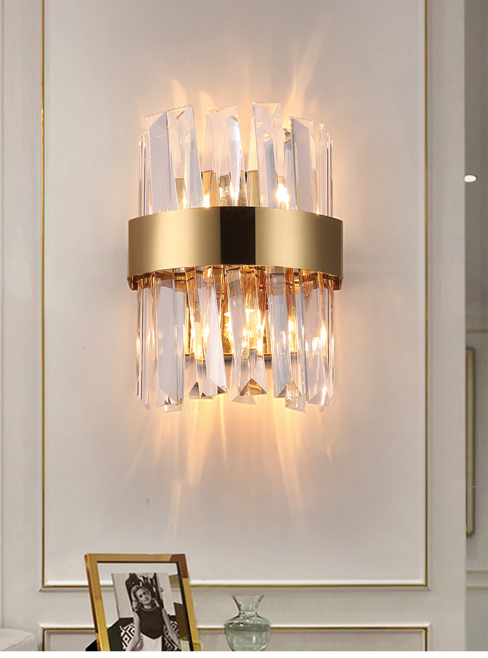 Image of: 2020 Fast Delivery Modern Wall Sconce Lighting Creative Design Bedroom Led Crystal Wall Lamp Bedside Home Wall Light Fixture Via Dhl From Sunnyfireman 138 93 Dhgate Com