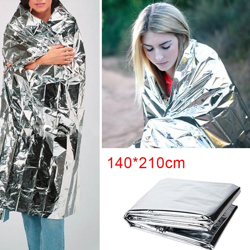 Portable Waterproof Emergency Space Rescue Thermal Mylar Blankets 1.4m X 2.1m OC-shipping
