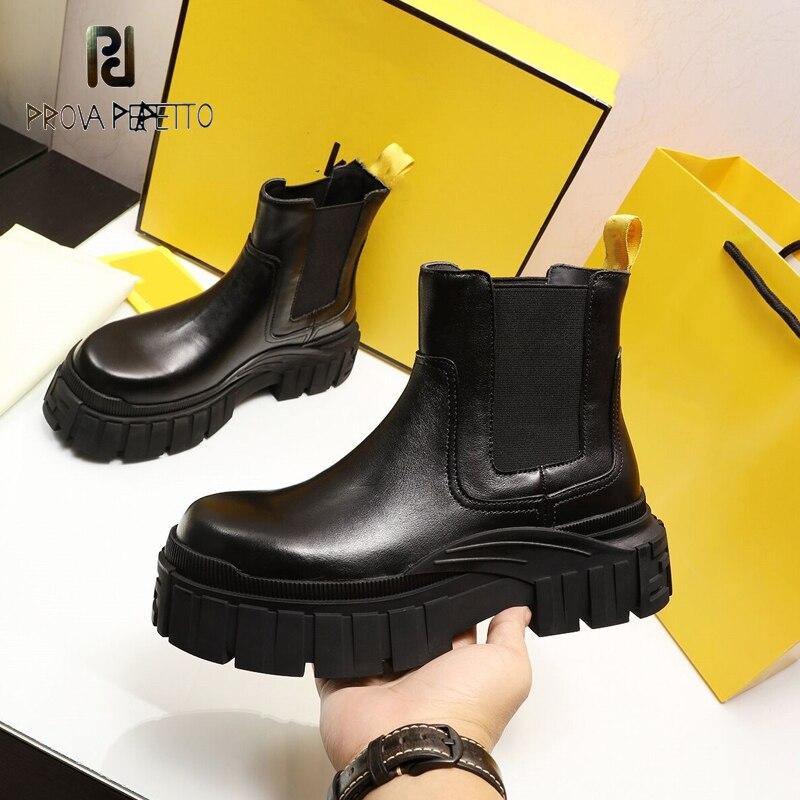 2021 inverno novo grosso-plataforma de salto curto tornozelo botas femininas martin botas de couro estilo britânico mais veludo chelsea botas de algodão