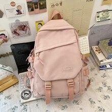 New Backpack 2020 Waterproof Nylon Women Backpack Female Insert Buckle Schoolbag Large Capacity Travel Bag Designer Book Bag