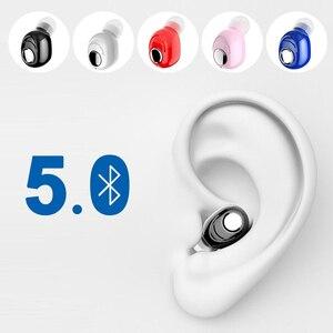 Image 1 - L16 Mini kulak Bluetooth 5.0 kulaklık HiFi spor kablosuz mikrofonlu kulaklık kulakiçi Handsfree Stereo kulaklık akıllı telefonlar için