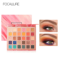 FOCALLURE 30 Colors Eyeshadow Palette High Quality Brand Smooth Glitter Matte Powdery Shades For Daily Party Makeup