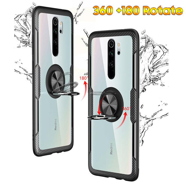 KEYSION Ring Case for Redmi Note 9S 9 Pro Max 8 Pro 7 K20 Clear Shockproof Phone Cover for Xiaomi Mi 10 9T Pro Note 10 Mi 9 Lite 2