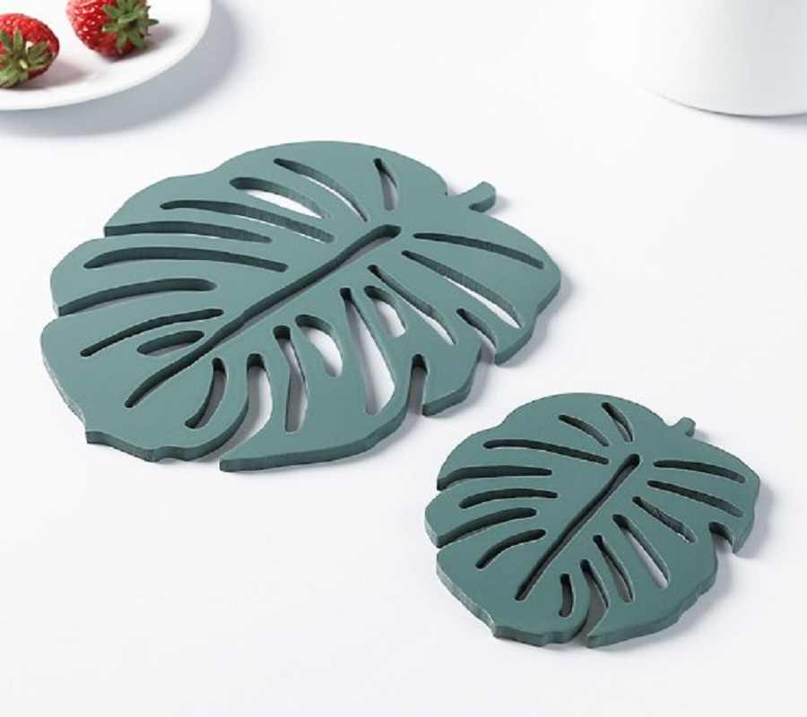 Turtle Daun Anti Panas Kayu Kreatif Isolasi Pad Dapur Hollow Table Mat Anti-Slip Bambu Kayu Coaster Pot mat