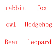 1PCS Fun Forest Animal Plush Toy Rabbit Owl Fox Hedgehog Leopard Bear Doll Child Christmas Valentines Day Gift
