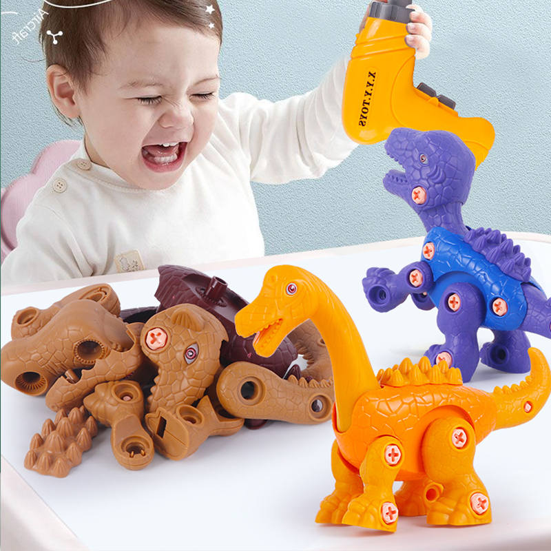 Screw Block Building & Construction Toys Dinosaur Modeling 4-6 Years Old Boy Girl Toy Learning Ability Develop Intellectual Toys