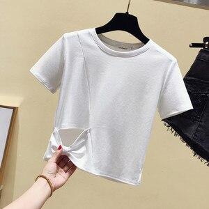 Женская футболка в Корейском стиле; Уличная одежда в стиле бохо; Летние топы в стиле Харадзюку; Ropa Mujer GRAY22