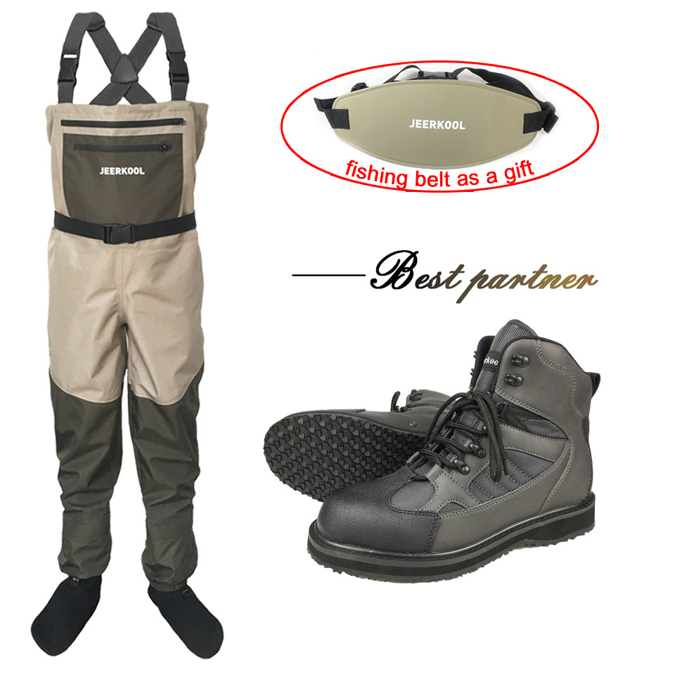 Fishing Clothes Outdoor Waders Fishing Suit Fly Fishing Clothing Hunting Rubber Shoes Winter Fishing Pants Boots Suits DXR1
