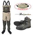 Ropa de pesca Wader caza al aire libre mosca pesca ropa zapatos de goma transpirable secado rápido pesca pantalones botas trajes FXR1