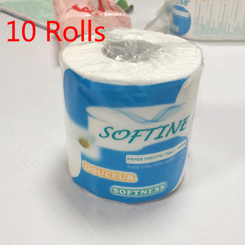 10 Rolls Silky Smooth Soft Professional Series Premium 3-Ply Toilet Paper Home Kitchen Toilet Tissue Soft High Quality Hot Sale