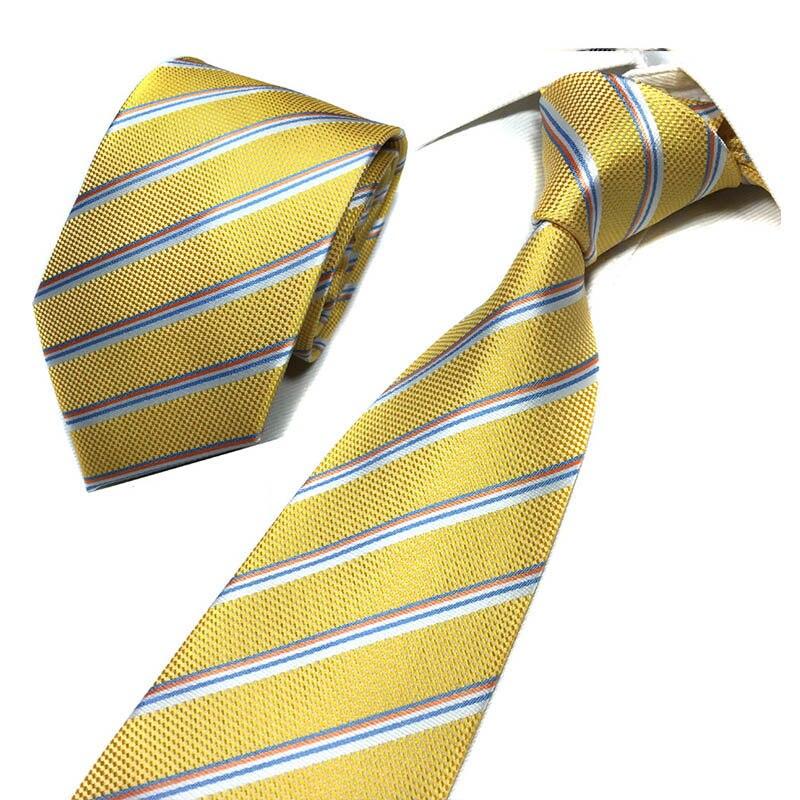 Luxury Jacquard Woven Soild Stripe Lattice Ties For Men Neckties For Wedding Business 8cm Skinny Neck Ties Formal Accessories