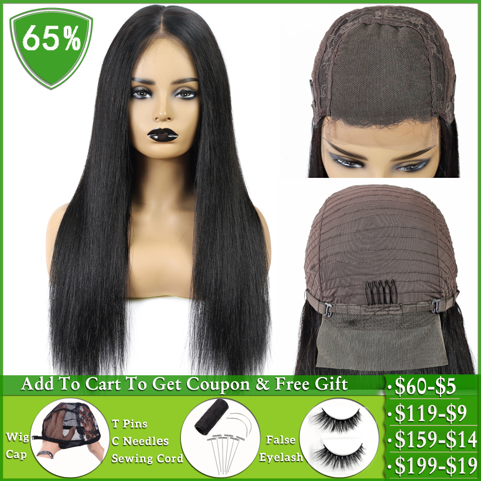 4×4 Lace Closure Wig Brazilian Straight Lace Closure Wig Short Bob Human Hair Wigs For Women Non-remy Pixie Cut Lace Part Wig