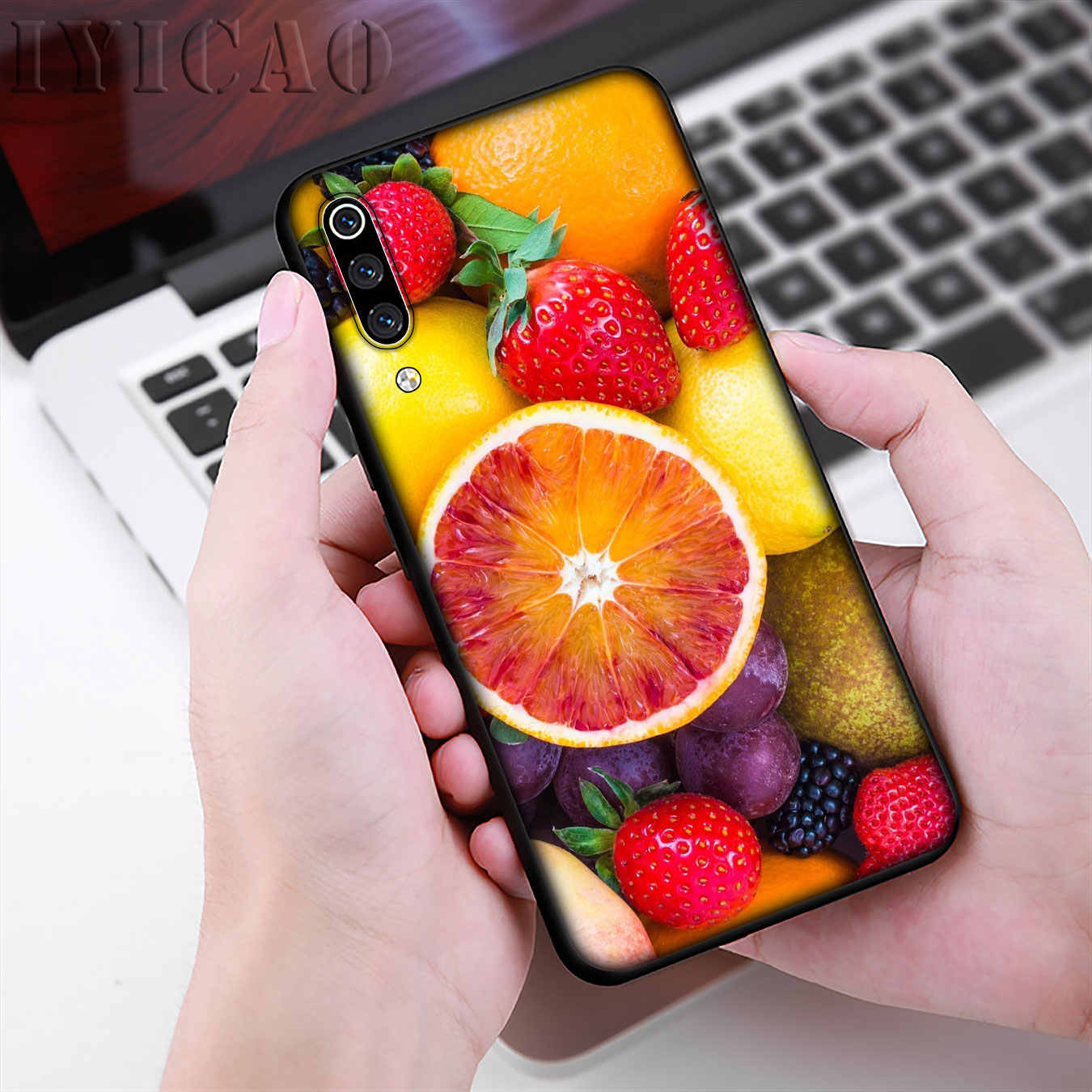 IYICAO zomer fruit Zachte Siliconen Telefoon Case voor Xiao mi mi 9 9 t A3 PRO CC9 CC9E 8 A2 lite A1 6 6X 5X pocophone f1 MAX 3 Cover