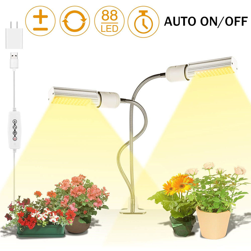 Plant Lamp 5V USB Dimmable Full Spectrum LED Plant Grow Light Lamp For Indoor Greenhouse Flower Seedling new|Growing Lamps|   - title=