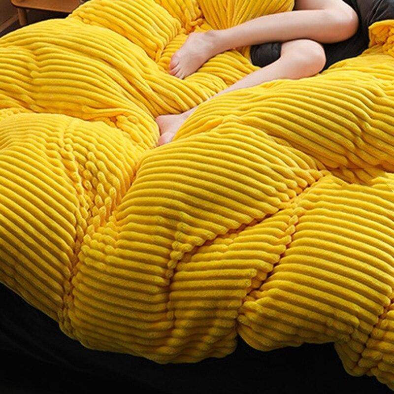 Funda de edredón de Navidad única, gruesa lana de Coral de cuatro piezas de lana de invierno de franela de cristal cama de edredón mágico sábanas - 5