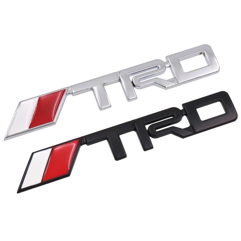 Автомобильное украшение TRD металлический значок багажник Задняя дверь внутренняя эмблема автомобильные детали аксессуары стикер для Toyota ...