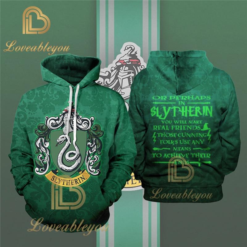 Fans Wear Slytherin 3D Printed Hoodie With Pocket Movie Cosplay Costume Slytherin Hoodies