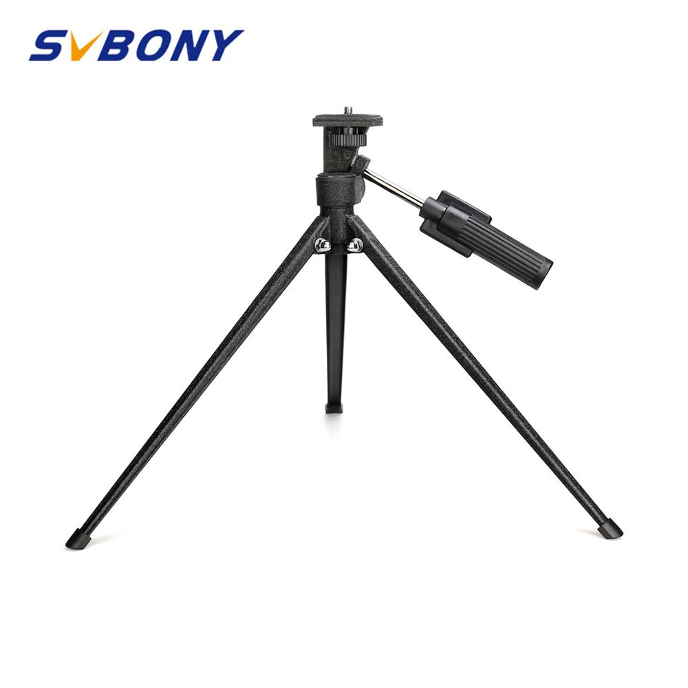 Svbony Mini Tabletop Tripod Portable Desktop Travel Tripod For Spotting Scope Monocular Medium-sized Telescopes