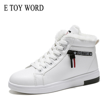 E TOY WORD Women Warm Sneakers Winter Boots Woman Shoes Sneakers flats Lace Up Ladies Shoes Women Snow Ankle Boots Size 35-40 sneakers e goisto sneakers