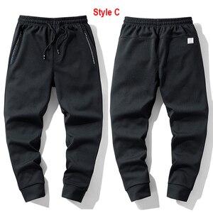 Image 4 - Супер Теплые Зимние флисовые тренировочные штаны, мужские плотные брюки джоггеры, мужские уличные длинные брюки больших размеров 6XL 7XL 8XL