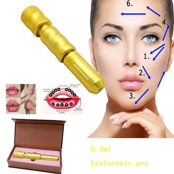 Rotating acid injection pen hyaluronic pen 0.3ml gold atomizer gun hialuron pen face lip filler injector Noninvasive Nebulizer