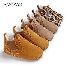Newborn Baby Shoes Girls Boys Soft Warm Leather Prewalker An