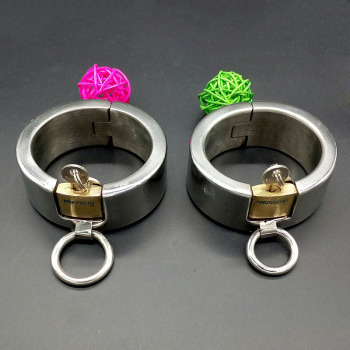 Heavy With Lock Stainless Steel Handcuffs Man/Woman Bondage Sex Handcffs Bracelet Bdsm Adults Sex Toys Metal Slave Sex Games.