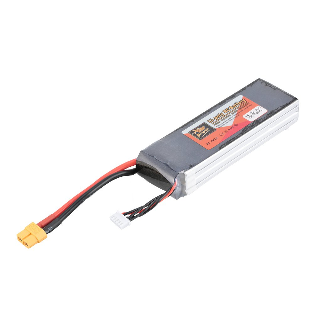ZOP Power 14.8V/11.1V/7.4V/ 5000mAh/4500mAh/1300mAh/1500mAh/3500mAh/<font><b>6000mAh</b></font> 60C <font><b>4S</b></font> 1P <font><b>Lipo</b></font> <font><b>Battery</b></font> XT60 Rechargeable RC Toy Part image