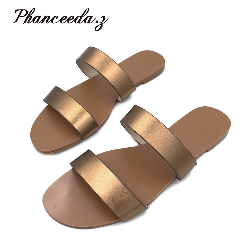 Shoes Sandal Flip-Flops Solid-Slippers Summer-Style Fashion Flats Size-6-10