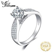 1.32 карат Драгоценный камень 100%чистый 925 серебряные свадебные обручальное кольцо набор новый Fshion ювелирных изделий для женщин подарок
