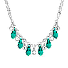Luxury Collier Femme Necklaces & Pendants For Women Crystals From Swarovski Statement Necklace Wedding Accessories Jewelry(China)