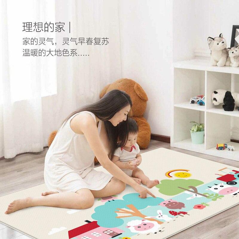 Huaying Bébé Rampant Tapis Épais 1 Cm Bébé Salon Intégrale En Mousse Tapis De Sol Enfants Ménage D'escalade De Double Face