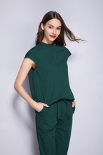 Sleeveless stand collar fashion women's scrubs set face and skin spa  uniform beauty salon working  clothes leisure wear