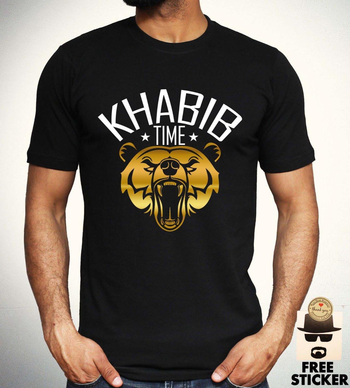 Khabib Nurmagomedov T Shirt Mixed Martial Arts Gym Boxing Training Top Mens 2019 New Brand Cheap Sale Cotton Funny Shirts