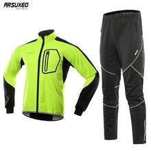 Berkrisar Conjunto de chaqueta de ciclismo para hombre, ropa deportiva térmica a prueba de viento, a prueba de agua, pantalones de bicicleta, ropa Bg011zy