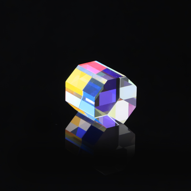 20mm arc-en-ciel prisme verre optique multi-facettes lumière vive combiner la physique enseignement réfraction spectre de lumière enfants présents