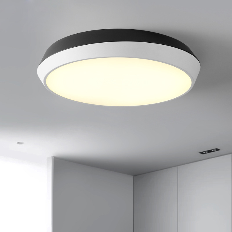 Ju Sheng LED Bedroom Ceiling Lamp Minimalist Modern Black And White Circle Room Lamps Library Northern European-Style Creative R