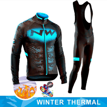 cafe men winter fleece thermal cycling jersey and bib pants kits mtb bike long shirt jerseys sports wear cycling clothing 2020 NW Winter Thermal Fleece Cycling Clothing Wear Bike MTB Jerseys Cycling Sets Men's Cycling Jersey Sets