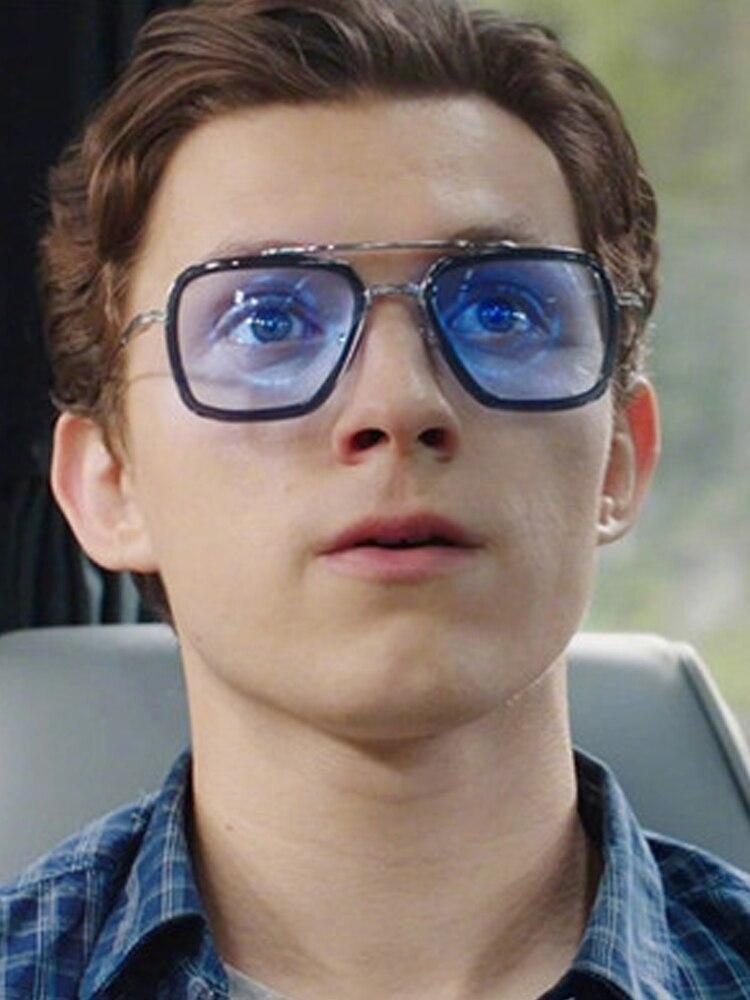 luxury Fashion Tony Stark Style for women Sunglasses Men Square Brand Design Sun Glasses Oculos Retro male 1